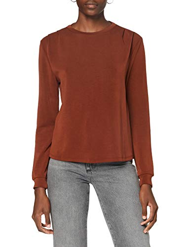 ONLY Damen ONQGAIA L/S O-Neck SWT Sweatshirt, Fired Brick, M