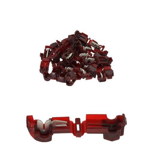25 Stück T-Abzweigverbinder / Schnellverbinder / Stromdieb rot 0,5 -1,5qmm