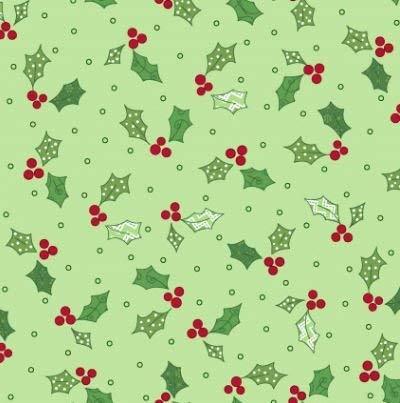 Jingle All The Way - Green - Holly - Berries - Christmas - Kim Christopherson - Maywood Studio - 714329940427 - MAS8248-G