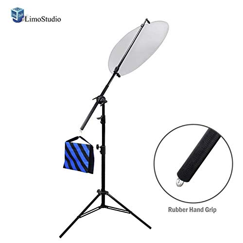 LimoStudio Photo Studio 73' Wide 78' Tall Lighting Reflector Arm Stand Reflector Stand Holder Boom Arm, AGG812