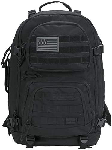 Rockland Military Tactical Laptop Backpack Black Large product image