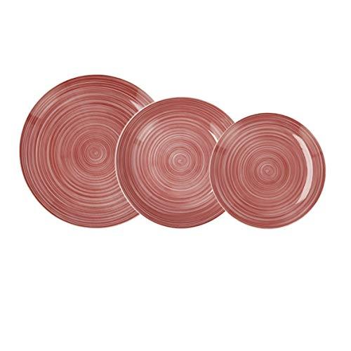 Quid Vajilla completa moderna de porcelana para 6 personas (18 piezas)|Platos llanos, Platos hondos, Platos postre