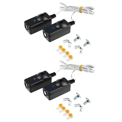 2 Garage Safety Sensors for Lifmaster Sears Chamberlain 41A5034 w/Brackets