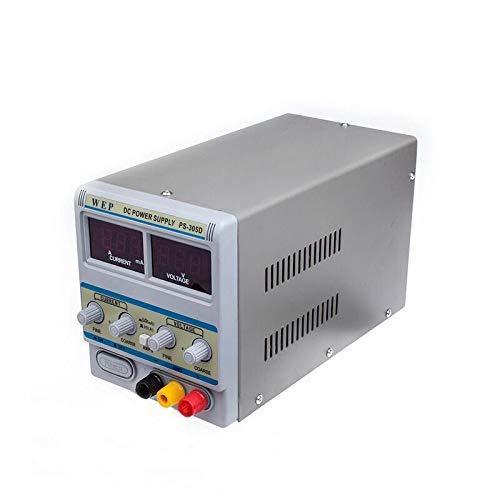 Fuente de alimentación regulable 0-30 V 0-5 A laboratorio digital DC fuente de alimentación transformador variable estabilizado digital pantalla laboratorio fuente