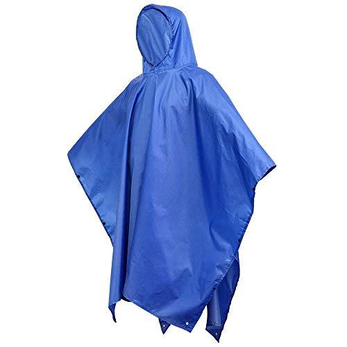 YZT QUEEN Poncho-Regenmantel, multifunktionale Kapuzenjacke, 3-in-1-Poncho für Erwachsene, wiederverwendbar, Zeltunterlage, Markise, für Outdoor-Aktivitäten geeignet 138 * 208 cm