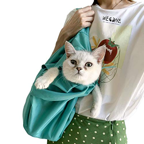 WEONE Pet Dog Cat Carrier Sling Waterproof Pet Carrier Outdoor Portable Foldable and Washable Shoulder Cats &Dogs Travel Bag for Nail Clipping Cleaning Grooming Bag (1 Piece)