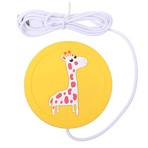 AKDSteel USB Verwarming Mat Mok Warmer Koffie Warmer Houd Temperatuur Siliconen Pad Veilig Gebruik voor Office/Home om Warm Theemelk voor Studenten Giraffe