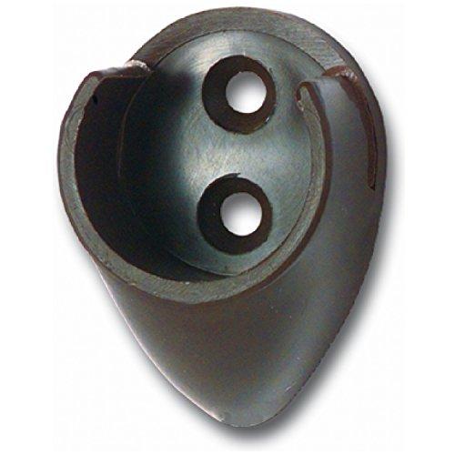SECOTEC Kleiderstangenhalter | Schrankrohrlager braun 25mm | 2 Stück