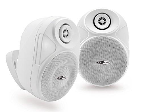 Caliber hsb602BT/W - Bluetooth Lautsprecher Wasserdicht Außenwand 16,5 cm weiß