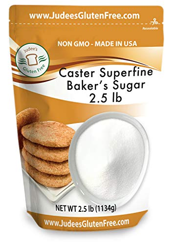 Judee's Superfine Caster Baker's Sugar (2.5 lbs) Non-GMO ~ Made in USA ~ Packaged in a Gluten and Nut Free Facility