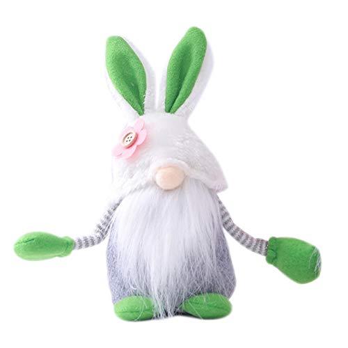 PETUFUN Bambola Coniglietto di Pasqua Ornamento Carino e splendido per Bambola Senza Volto, Gnomo Svedese, Babbo Natale e Elfi, per Bambini, Famiglia, Regalo per Pasqua, San Valentine
