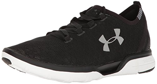 Under Armour Men's Charged CoolSwitch Running Shoe, Black (001)/White, 9.5