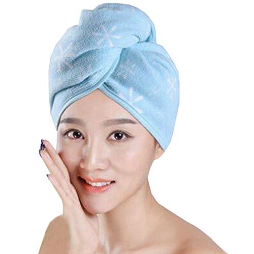 Dry Cap cheveux Douche Serviette Cap Femme Cheveux Secs Bleu Ciel