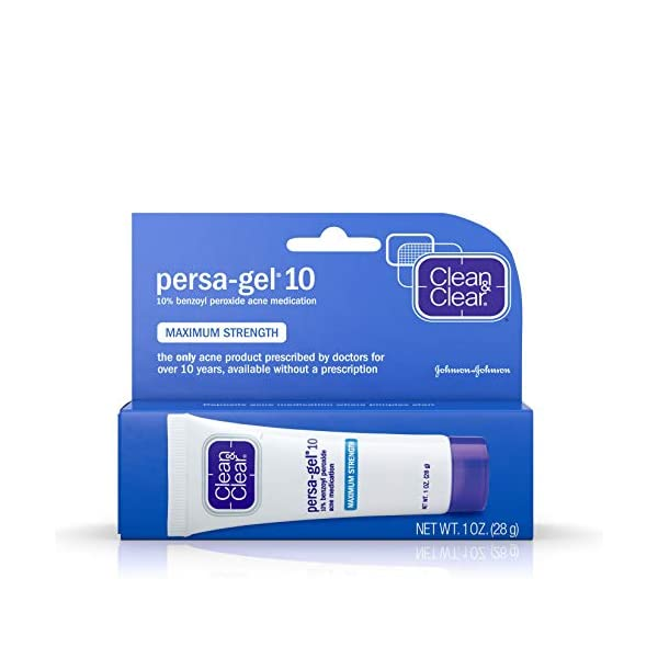 Acne treatment products J&J Persa-Gel Acne Tr M/S Size 1z Maximum Strength Persa-Gel 10 [Clean &