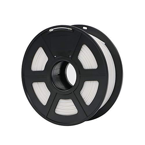 without brand XXF-dyhc, Plastica del filamento 1.75mm di PLA for Stampante 3D 1kg / Rotolo Materiali di consumo di Gomma facoltativi di Colori di 28 Colori for Stampare (Colore : Bianca)