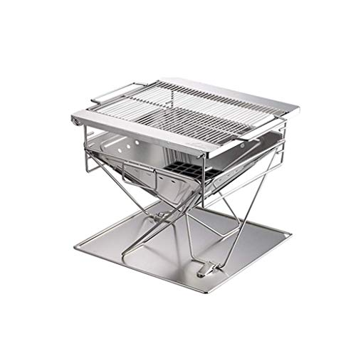 41kjTeUw8GL - LMM Metall Outdoor Grillzubehör, Folding Barbecue-Ofen Barbecue Licht Holzkohlegrilgrill Non Stick im Freien