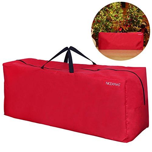 Nicexmas, Borsone con maniglie per riporre l'albero di Natale artificiale (rosso)