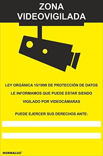 Normaluz RD30042 - Señal Zona Videovigilada PVC Glasspack 0,7 mm 21x30 cm