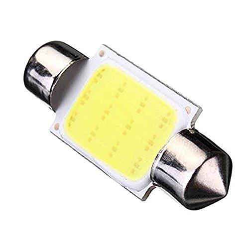 SODIAL 2 X C5W 36MM COB Dome Festoon 12 LED Voiture Ampoule DC 12V Blanc