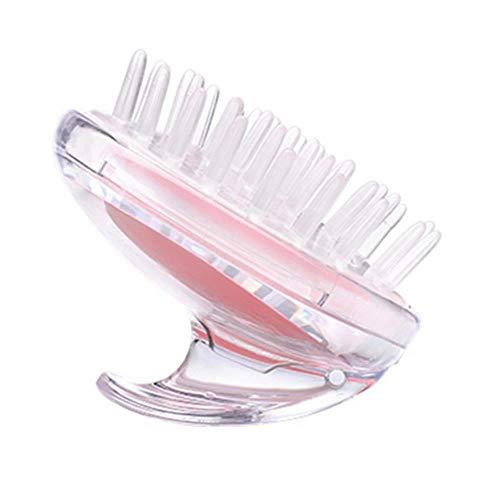 Kamm Handheld 5 kleuren siliconen hoofdhuid shampoo massageborstel waskam douchekop haar mini hoofd Meridian massage brede tand roze