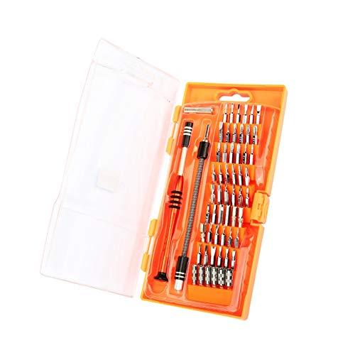 Juego de destornilladores de 58 piezas de cromo vanadio de acero para reparación de teléfonos móviles PC reloj portátil