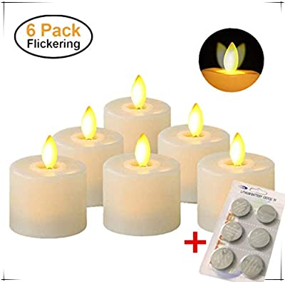 Battery Operated Flameless Fake Tea Candles,Flickering Moving Wick LED Tea Light with Remote Control Timer for Seasonal Festival Celebration Thanksgiving & Christmas