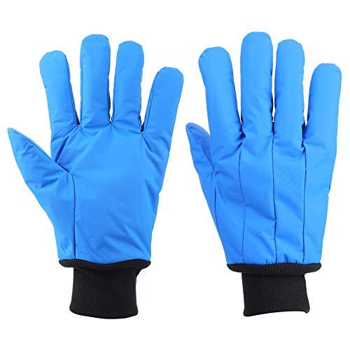Hopcd kryogeniska handskar, -200 °C till -360 °C lågtemperaturbeständighet skyddande flytande kvävehandskar för frysrum/kall förvaring, isarbetare handskar