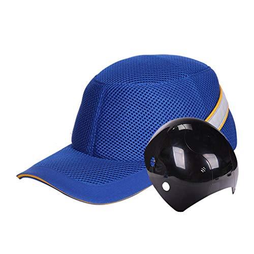 WXJ Moda Grid Bump Cap Sombrero Duro Estilo De Béisbol Sombrero Protector ABS Anti-Rotura...