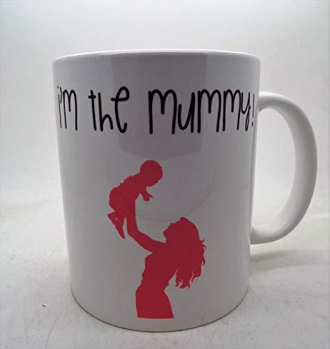 Taza de cerámica con texto en inglés 'I'm Going to be a momia', para el día de la madre, regalo para baby shower, embarazo, GFT de 325 ml