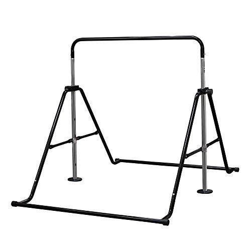 DABADA(ダバダ) 折りたたみ 鉄棒 耐荷重(約)70kg 5段階調節可 室内使用可 子供用 (ブラック)