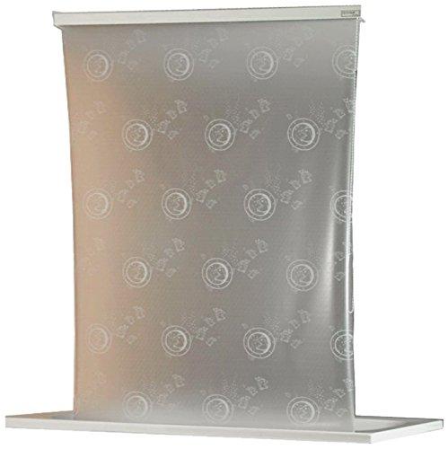 ECO-DuR 4024879003067 Kassetten Duschrollo 134 cm weiß - Bullauge weiß