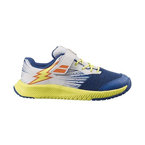 Babolat Chaussures Garçon Pulsion All Court Junior Bleu/Blanc/Jaune PE 2021