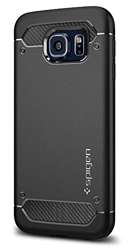Spigen Funda Rugged Armor Compatible con Samsung Galaxy S6 - Negro Mate