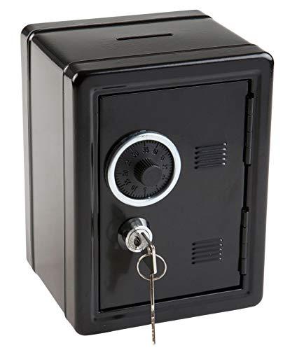 Idena 50034 - Spartresor, Größe 120 x 100 x 160 mm, Farbe Schwarz, 1 Stück