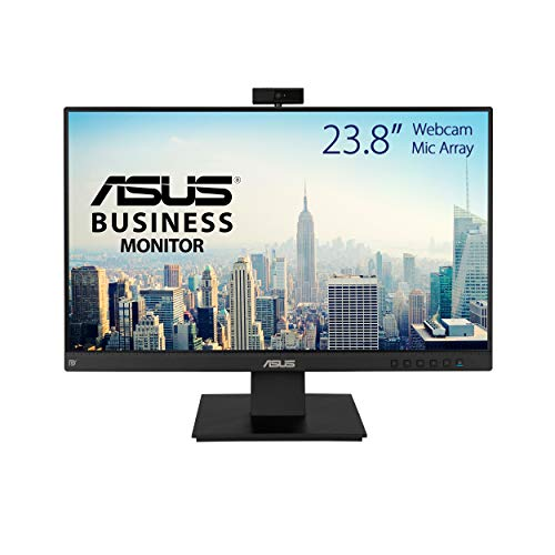 ASUS BE24EQK 60,45 cm (23,8 Zoll) Business Monitor (Full HD, inkl. Webcam, Mikrofon-Array, rahmenloses Design, Blaulichtfilter, VGA, HDMI, DisplayPort)