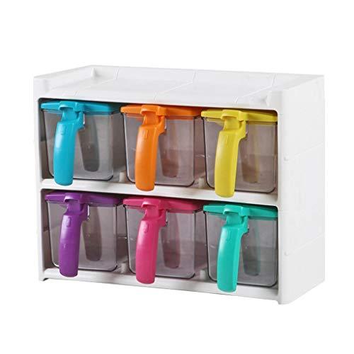 LYMUP Especia combinación Tarro Caja de Almacenamiento de plástico dispensador Especia de Base