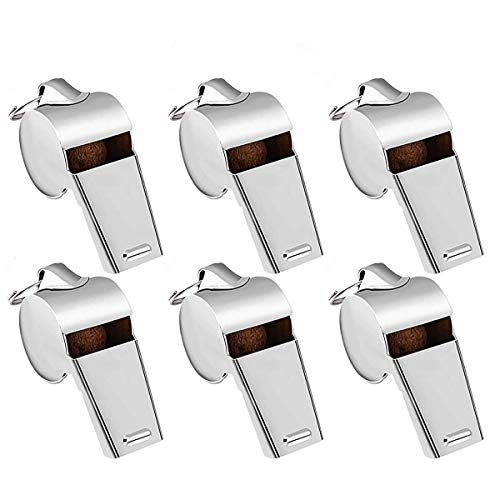 Yagosodee Stainless Steel Coach Whistle 6pcs Stainless Steel...