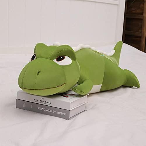 LXYN Juguete de Peluche Almohada de Dinosaurio de Ojos Grandes muñeca Linda durmiendo Almohada Larga cojín niños y niñas muñecos de Trapo Crudo