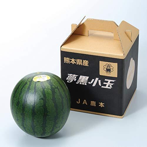 すいか 夢黒小玉すいか 秀品 3Lサイズ 1玉入り 約2.5kg 熊本県産 JA鹿本 スイカ 西瓜