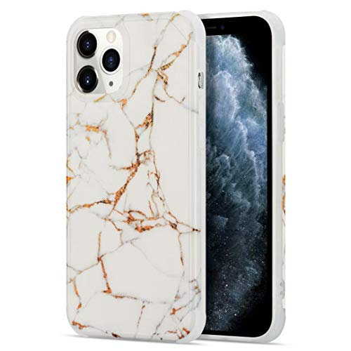 for Huawei P30 Pro Case, Glitter Bling Plating Splice Marble Design Slim Fit Soft TPU Phone Case Shockproof Silicone Anti-Scratch Rubber Bumper Protective Back Cover for Huawei P30 Pro LD2