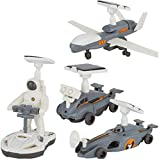 Aoyo 4 in 1 DIY Solar Power Educational Building Block Toy Spaceship Lunar Exploration Fleet Robot Kits Kids Gift