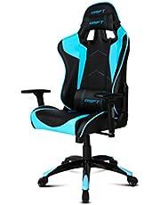 Drift DR300BL - Silla Gaming Profesional, (Polipiel Alta Calidad, Ergonómica), Color Negro/ Azul, 48x61.5x129 cm
