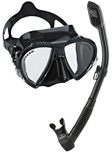 Cressi Matrix Mask with Dry Snorkel Set Combo