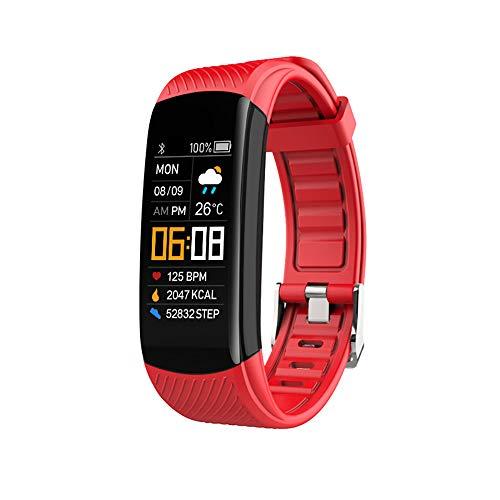 Monitor de Actividad física, Monitor de Ritmo cardíaco, Monitor de Actividad con presión Arterial, podómetro Reloj Inteligente con GPS Conectado, Contador de calorías Impermeable para Mujeres Hombres