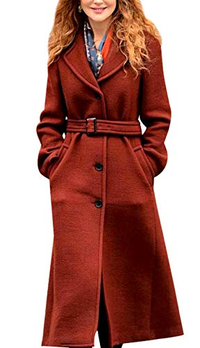 Nicole Kidman The Undoing Brown Wool Coat - Long Pea Coat for Women - Trench Coats for Women