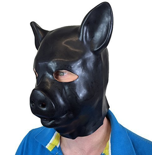 Rubber Johnnies TM Fétiche Latex Masque Cochon Adulte Masquerade Déguisement