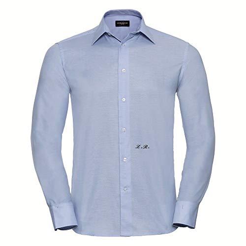 bubbleshirt Camicia da Uomo con Iniziale Ricamata Personalizzabile