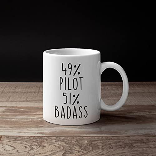 Regalos piloto, regalo piloto para hombres y mujeres, regalo de Navidad piloto, idea de regalo de piloto, regalo de cumpleaños piloto, regalo para piloto, taza de café de agua para el hogar, oficina