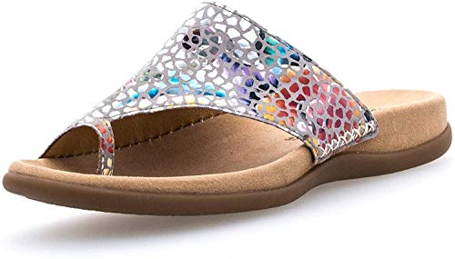 Gabor 83.700-39 Damen Pantolette aus Nubukleder vorgeformte Fußbett Lederfutter, Groesse 41, bunt