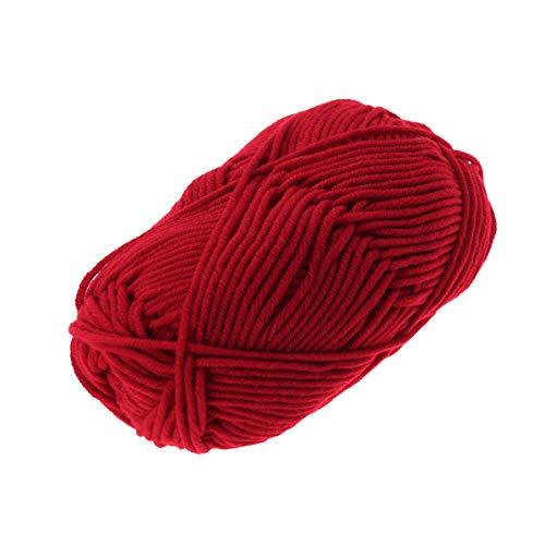 VOSAREA Latte Cotone Filati di Cotone Grosso Tessuto Intrecciato a Mano Uncinetto Filato di Lana Caldo Morbido Filato per Maglioni Cappelli Sciarpe DIY (Rosso ruggine)